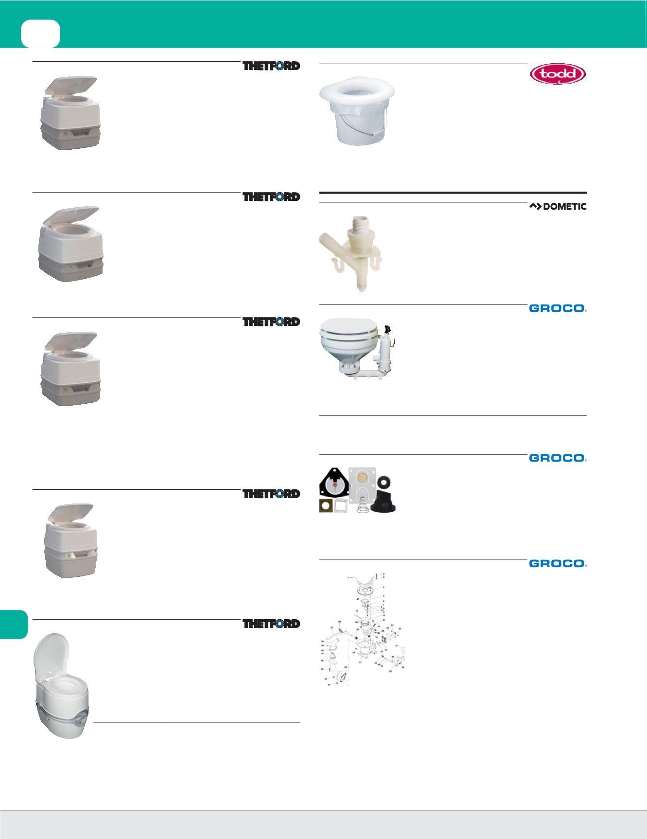 Level Indicator THETFORD MARINE 92865 Thetford Porta Potti 260P Marine Toilet with Piston Pump and Hold-Down Kit